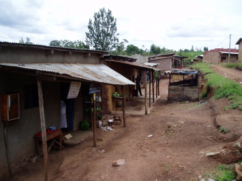 Aldeia onde a então dona-de-casa vivia com a família (Foto: Rosemary Lycett)