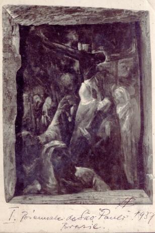 Pintura que garantiu destaque ao artista na 1ª Bienal Internacional de São Paulo (Acervo: Ordem do Carmo)