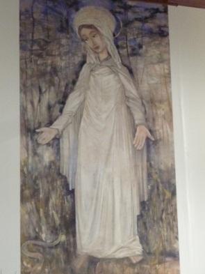 Pintura de Nossa Senhora das Graças feita para a Igreja de Graciosa, distrito de Paranavaí (Acervo: Ordem do Carmo)