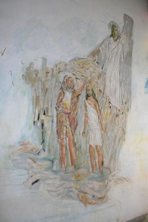 Pintura que pode ser vista na Capela do Batismo da Igreja São Sebastião (Acervo: Ordem do Carmo)