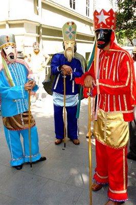 Três reis magos são personagens centrais dos festejos (Crédito: SECMG)