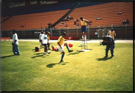 Zaguinha em desafio no Estádio do Pacaembu (Foto: Arquivo Pessoal)