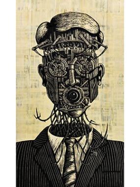 Retrato de um político atual, segundo o artista Art Brown
