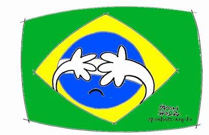 Imagem do cartunista Roque Sponholz que retrata a vergonha da nossa política