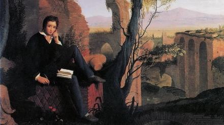 Percy Shelley, um dos precursores do veganismo (Pintura: Joseph Severn)