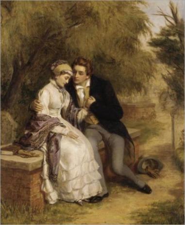 Percy Shelley com sua esposa Mary Shelley (Pintura: Reprodução)