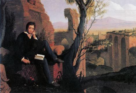 Percy Shelley, um dos românticos que mais defendeu o vegetarianismo (Pintura: Joseph Severn)