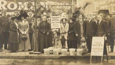 Circa 1911 - Caroline Earle White and the women of the WPSPCA…
